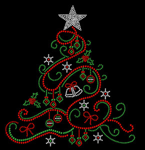 CHRISTMAS TREE Rhinestone Heat Transfer