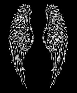 Angel Wings Rhinestone Heat Transfer