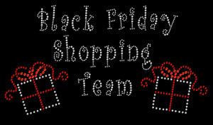 Black Friday Rhinestone Heat Transfer
