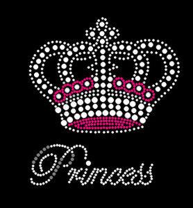 Princess Crown Rhinestone Heat Transfer