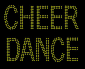 Cheer or Dance Rhinestone Heat Transfer