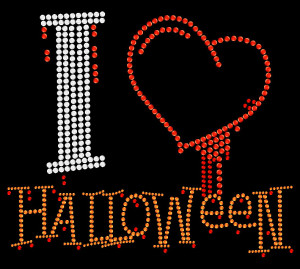 Halloween Rhinestone Heat Transfer